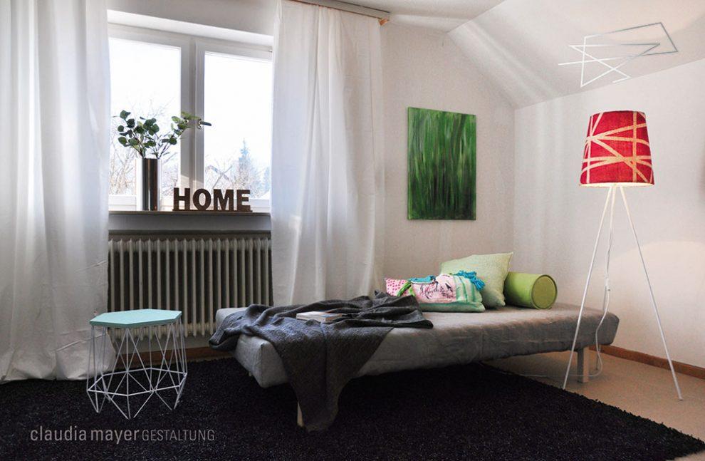 Kinderzimmer mit Homestaging fotografiert