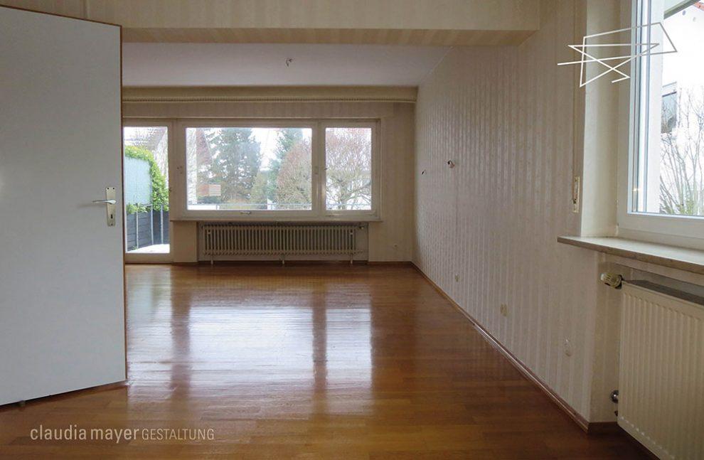 Wohnzimmer ohne Homestaging geknipst