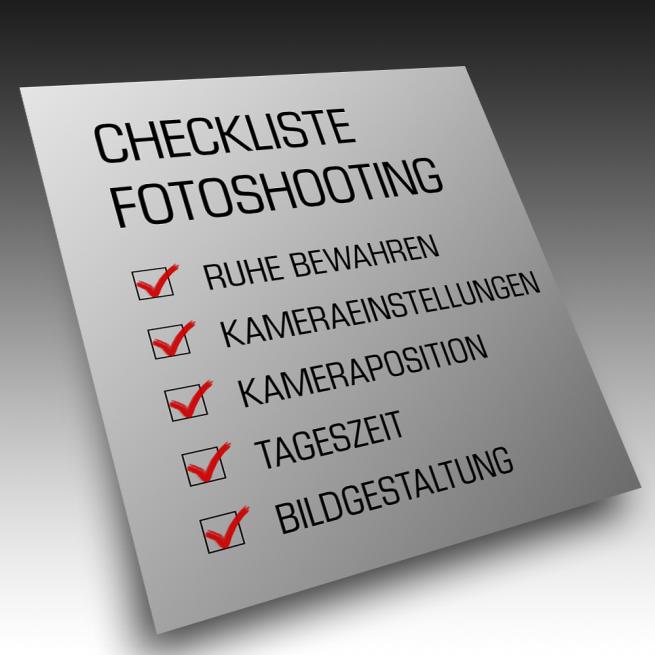 Checkliste Fotoshooting