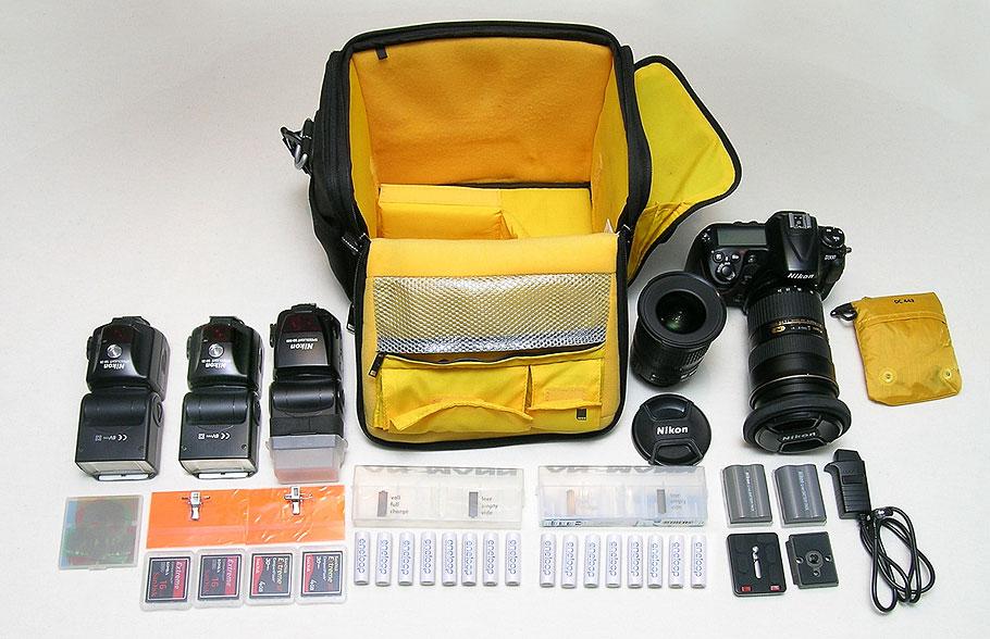 Seitentasche rechts ausgepackt