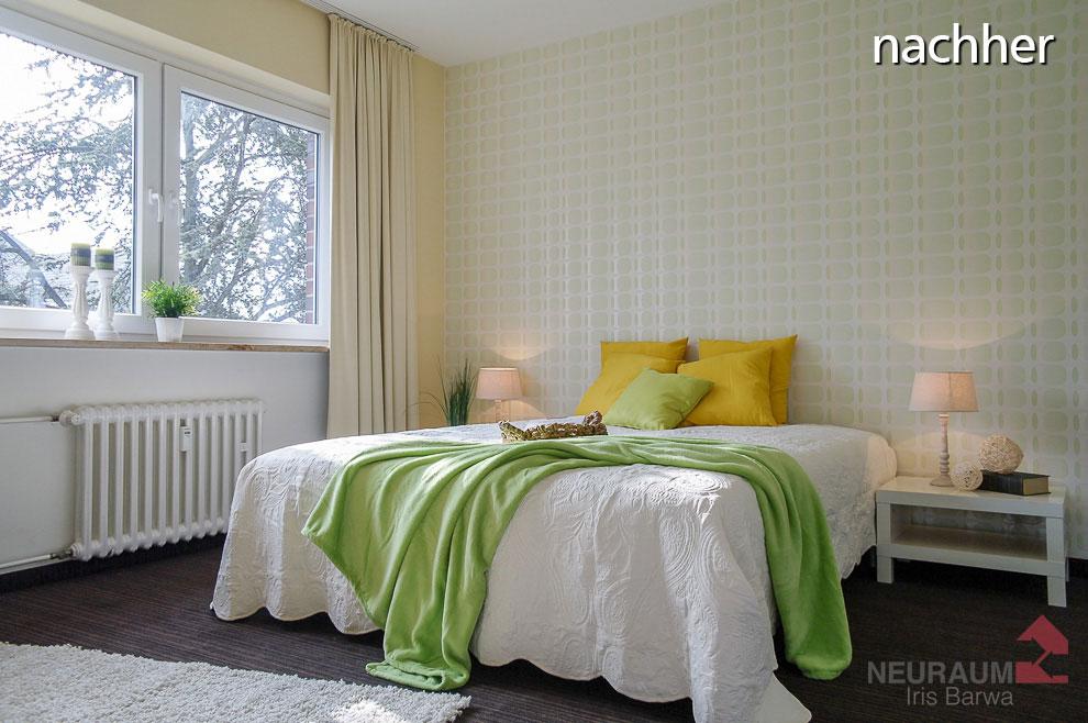 Nachher: Möbliert und in Szene gesetzt wird die mögliche Nutzung dieses Raumes deutlich. (Foto: Iris Barwa)