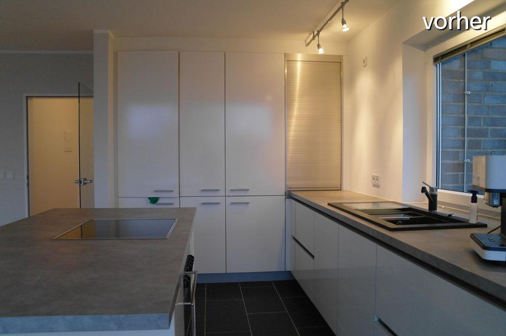 Vorher: Die nackte Küche bei der Erstbesichtigung (Foto: Iris Barwa)