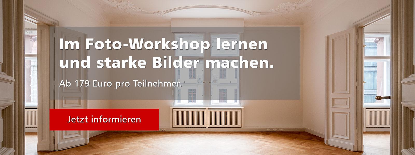 Workshop Immobilienfotografie ab 149 EUR pro Teilnehmer