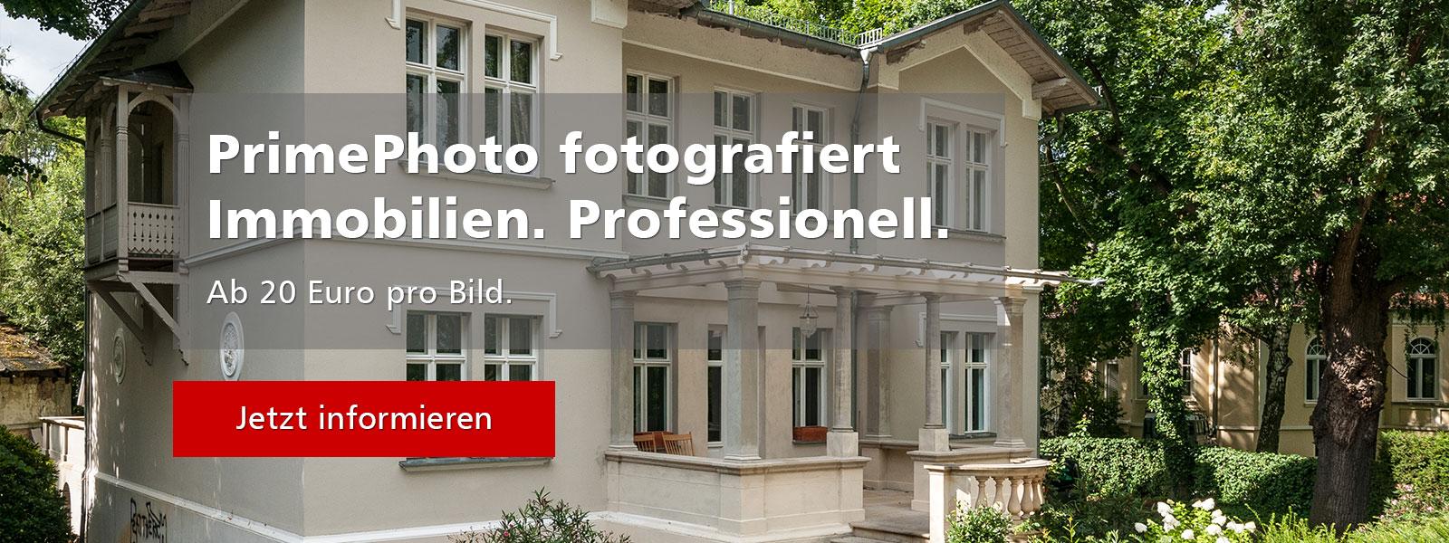 Professionelle Immobilienfotos ab 20 Euro pro Bild