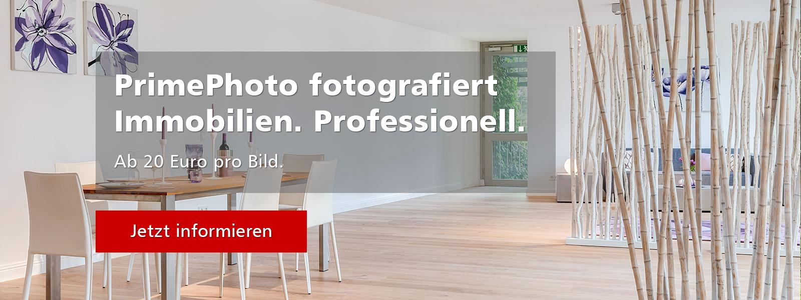 PrimePhoto fotografiert Immobilien. Professionell.