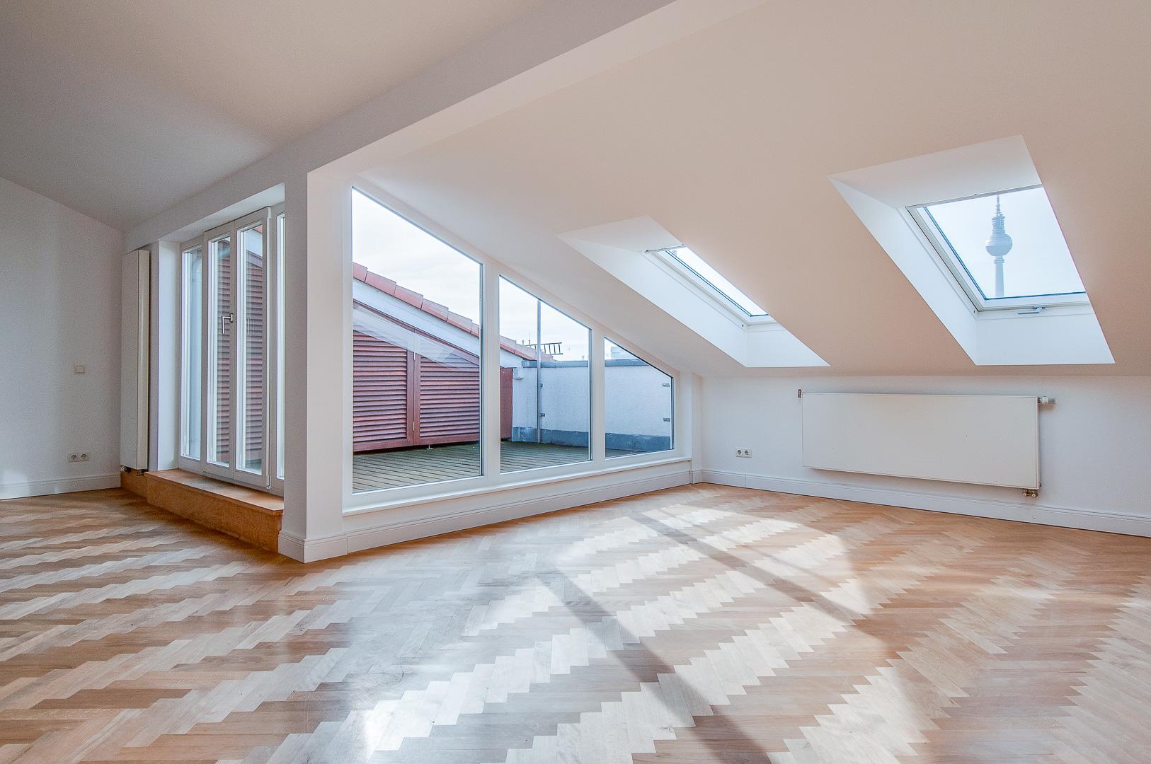 Wohnzimmer, Dachterrasse