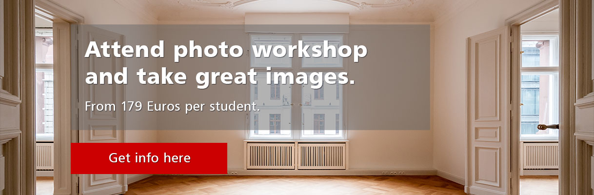 Workshop Real Estate Photography from 179 Euros per student.