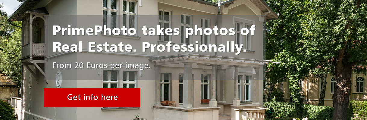 Professional real estate photos from 20 Euros per image.