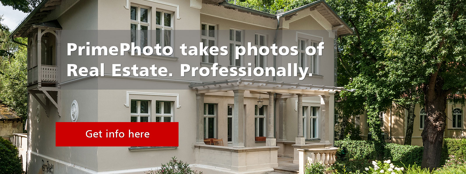 Professional real estate photos including first class image retouching.