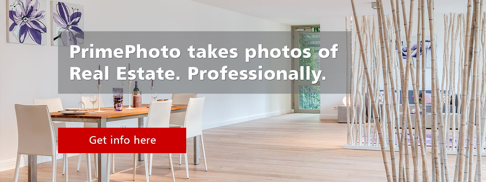 PrimePhoto takes images of real estate. Professionally.