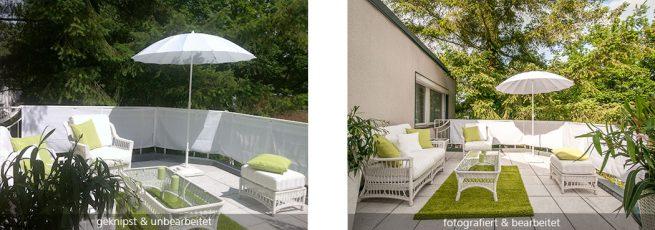 Terrasse geknipst / fotografiert