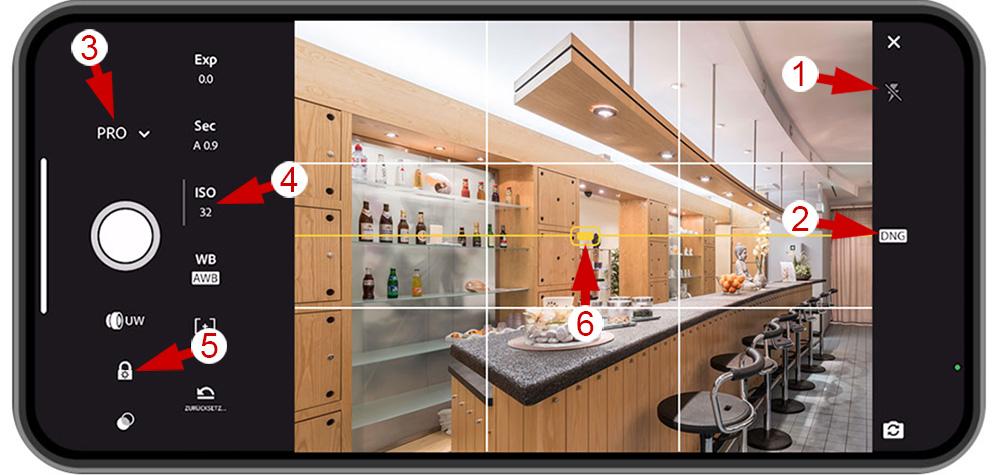 Smartphone-Einstellungen für RAW-Fotos mit Adobe Lightroom