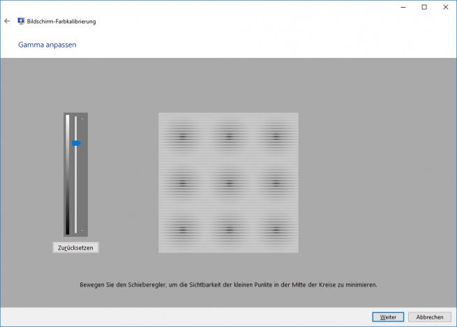 Bildschirmkalibrierung unter Windows 10