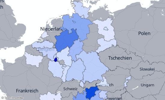 Geografische Verteilung der Klicks