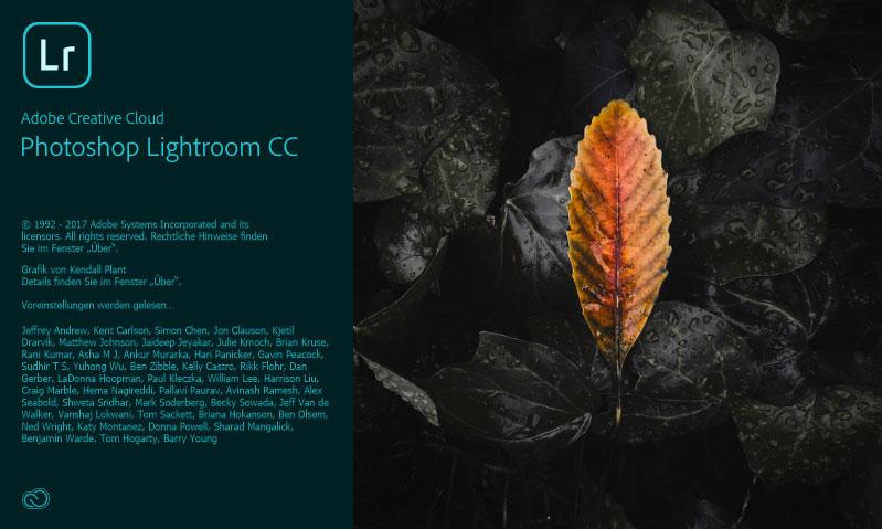 Startbildschirm des neuen Lightroom CC