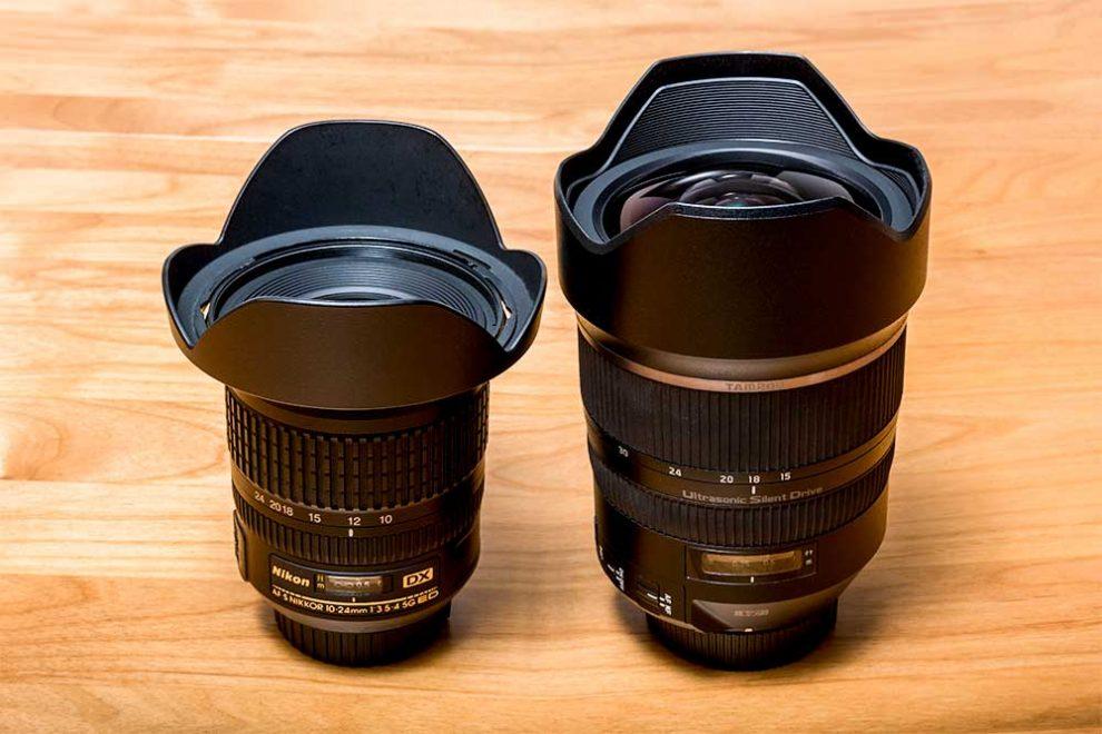 Nikkor 10-24 mm (für DX-Kameras) und Tamron 15-30 mm (für FX-Kameras)