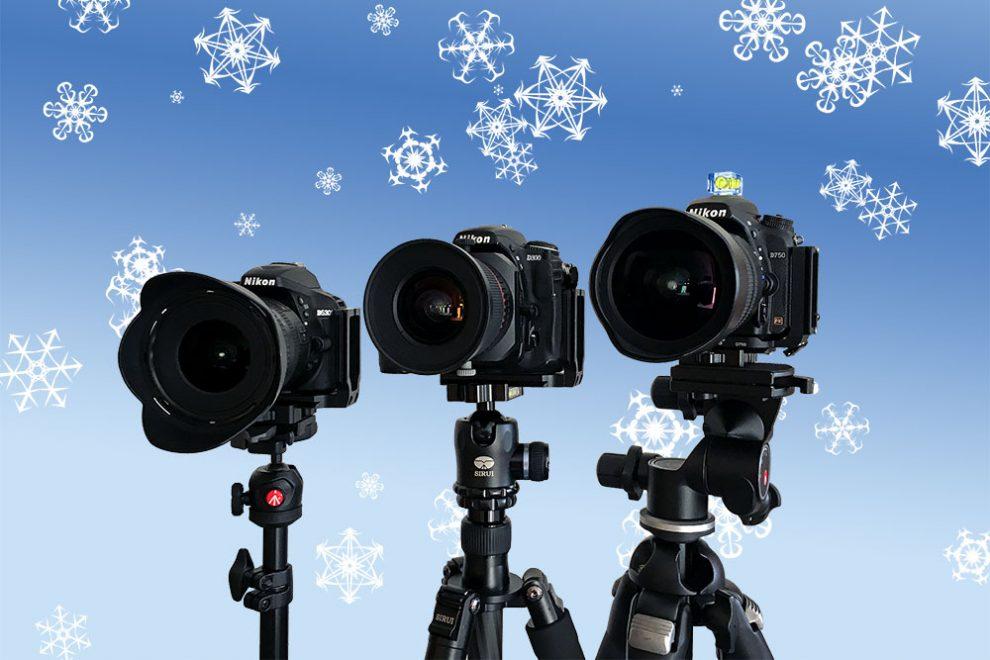 Verschiedene Kamera-Stative im Vergleich