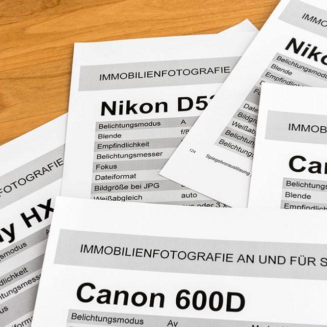Jeder Teilnehmer an meinem Foto-Workshop erhält ein Cheatsheet für seine Kamera.