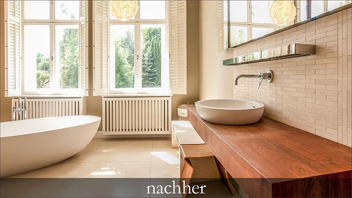 Immobilienfoto: Badezimmer nachher