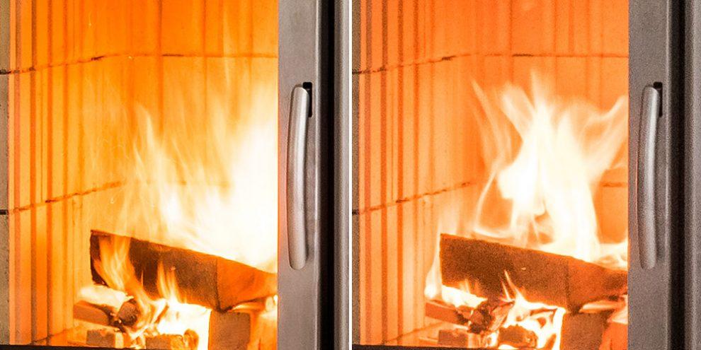 Feuer beruhigen durch ISO-Wert