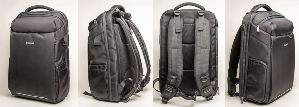 The exterior of the Inateck Backpack
