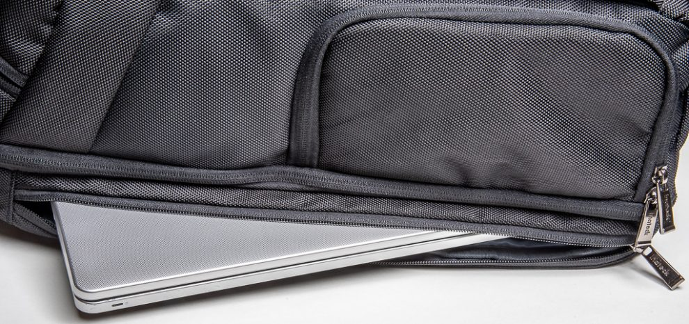 "A15"" notebook compartment is located in the back cover."