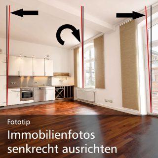 Immobilienfotos am Computer senkrecht ausrichten