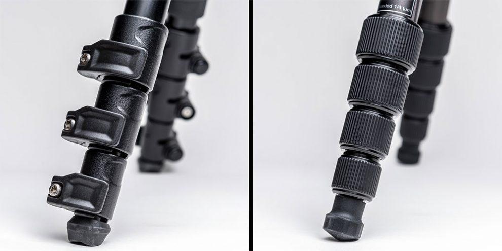 Stative mit Flip-Lock und Twist-Lock