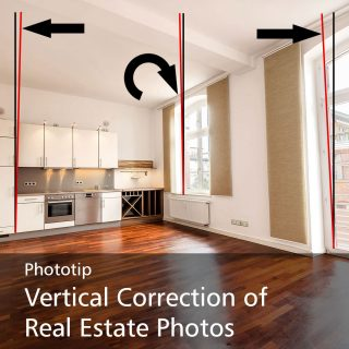 Vertical Correction of Real Estate Photos