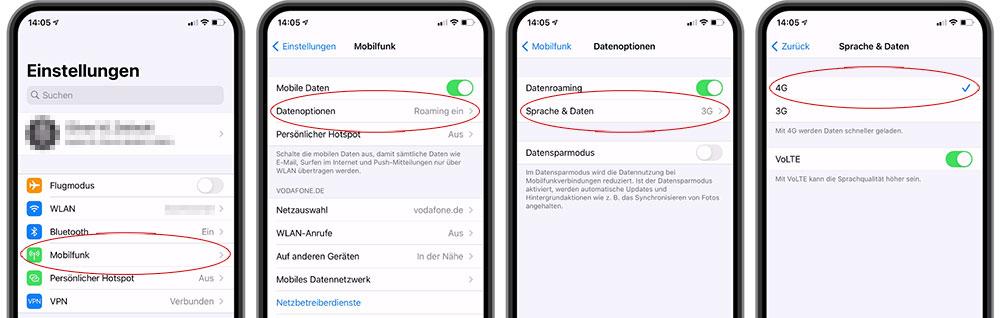 Lösung über die Einstellungen-App des iPhones